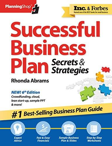 'Successful Business Plan: Secrets & Strategies (Successful Business Plan Secrets and Strategies) (Paperback)' by Rhonda Abrams
